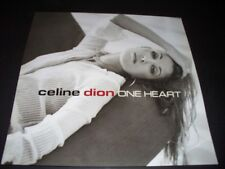CELINE DION PROMO ALBUM POSTER FLAT RARE ONE HEART EPIC