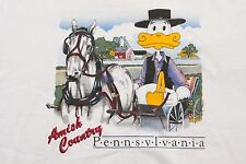 VTG Amish Country Duck L Shirt Made In USA Pennsylvania PA Dutch travel tourist