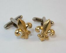 Fleur de Lis Cufflinks by Hoardersworld, Handmade in Gold Plated English Pewter