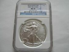 2014 , Silver Eagle , NGC , MS 70 , First Release