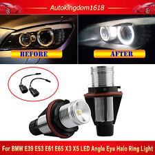 Pair 7000K BMW Angel Eyes 5W LED Ring Marker Light Bulbs E39 E60 E63 E64 5 6 7