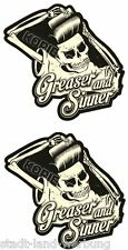 579  2 Set Greaser and Sinner Aufkleber Sticker Retro Oldschool Rockabilly Ratte