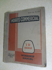 Original 1950s LD Morris Commercial Van LD1 LD2 range truck workshop manual