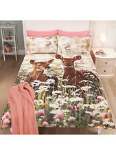 Stylish George Home FOREST FAWN DEER KING SIZE Duvet Cover + 2 Pillowcases