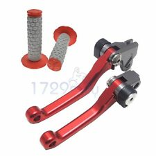 CNC Pivot Brake Clutch Lever and Hand Grip For Honda CRF150R CR125R/250R CRF450R