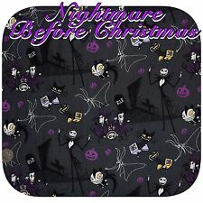 Nightmare Before Christmas Jack Skeleton Patchwork Cotton Fabric Fat Quarter