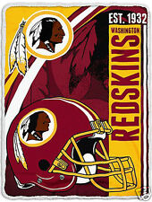 Washington Redskins blanket bedding 60x80  FREE SHIPPING NFL NFC Griffin