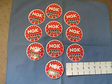 TEN (10)  NGK factory racing stickers,decals 3""