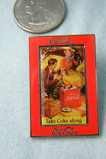 WILLABEE & WARD PIN TAKE COKE ALONG COCA COLA