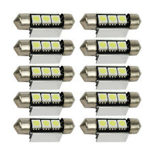 10pcs Hot Car 3canbus 39MM 5050 3SMD LED Bulb License Plate Dome Light DC 12V