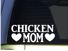 Chicken Mom sticker *H353* 8.5 inch wide vinyl eggs incubator carton egg