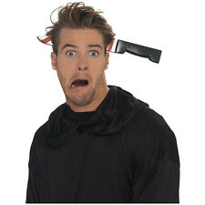 Halloween Prank Joke Blood Party Fake Knife Through on head Trick Costume