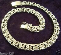 TAXCO MEXICAN STERLING SILVER MEN'S CHAIN LINK NECKLACE MEXICO