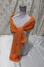 Etole en mousseline de soie Couleur Moda Orange MANDARIN - BEAU - 2 x 0.70 mt