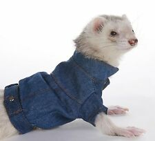 Marshall Ferret Toy Dog Fashion - Light Blue Jean Jacket