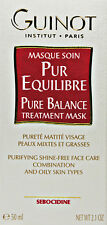 Guinot Pure Balance Treatment Mask Masque 50ml(2.1oz) Combination Oily Fresh New