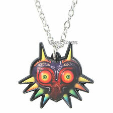 "Nintendo The Legend Of Zelda Majora's Mask Pendant Gold Tone Necklace 20"" Chain"