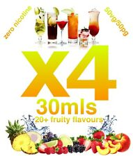 e liquids 4x30ml VAPING E-liquid 20+ QUALITY FRUITY FLAVOURS VG/PG B1