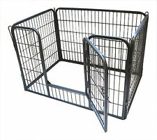 Small Puppy Bunny Play Pen Grey Enclosure Cage Animals Whelping Pet Dog Run NEW