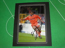 Trevor Sinclair Signed & Mounted Blackpool FC Action Photograph