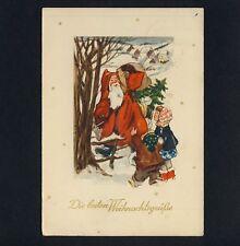 Weihnachten WEIHNACHTSMANN / SANTA X-Mas * Vintage 1950s  GDR PC