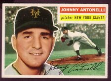 1956 TOPPS JOHNNY ANTONELLI CARD NO:138 JA18 GRAY BACK NEAR MINT CONDITION