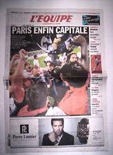 L'EQUIPE 13 MAI 2013 PARIS SAINT GERMAIN - PSG CHAMPION DE FRANCE