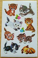 Vintage Sticker Sheet - Adorable Kitty Cats