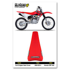 1995-1996 HONDA CRF 230 All Red FULL GRIPPER SEAT COVER BY Enjoy MFG