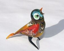 ART GLASS Lampwork Glass Murano Bird Handmade Gift Collectible Figurine animals