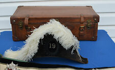 Vintage Knights Templar Masonic Hat/Chapeau & Leather Suit Case NICE!      #1248