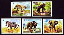 Umm al Qiwain 1971 ** Mi.478/82 B Tiere Animals Tiger