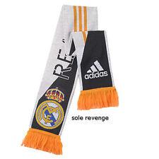 New REAL MADRID SCARF Soccer Football Men Women Flag White Orange Blue Spain