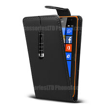 Flip Leather Case Cover Pouch For Nokia Lumia Asha Phones Various Models +Stylus