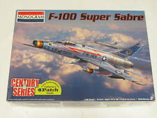 1/48 Monogram Revell F-100 Super Sabre Scale Plastic Model Kit Complete