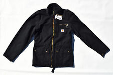 CARHARTT Men's Black Cotton Canvas Rugged Full Zip Pike Jacket ~ Sz S NWT