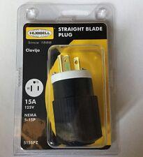 Hubbell Straight Blade Plug 15A 125V Nema 5-15P 515SPZ NEW 618A