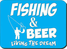 FISHING & BEER - Fish / Fly / Fresh / Novelty /Gift Idea Computer PC Mouse Mat