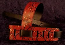 REBEL GUITAR STRAP SWAGGER - RED WITH BLACK LINES for GUITAR or BASS