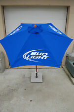 Bud Light Beer Patio Beach Market 7 FT. Umbrella ~ NEW & F/S 3 Bud Light Logos