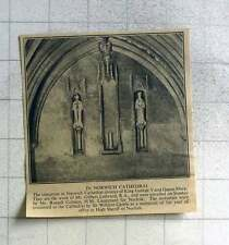 1940 Statuettes Unveiled In Norwich Cathedral, Work Of Gilbert Ledward