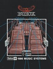 1986 BUICK MUSIC SYSTEMS Brochure: DELCO,Radio,Stereo,GCC,UU8,UT6,SKYLARK,REGAL,