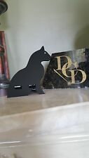 Acrylic cell phone stand in shape of Cat. Perfect for Cat Lovers. Great Gift