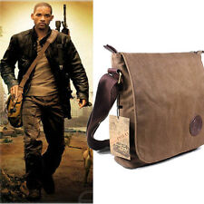 Men's Vintage Canvas Leather Satchel School Military Shoulder Bag Messenger