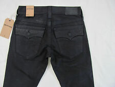 True Religion Ricky Relaxed Straight Jeans-Black Clear Coat -Size 28- NWT-$278