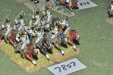 25mm napoleonic french light cavalry 8 cavalry (7807) metal painted