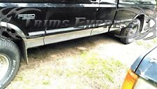 1987-1996 Ford F-Series Pickup Extended Cab Long Bed Chrome Rocker Panel Trim-6""