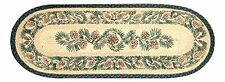 """PINECONES 100% Natural Braided Jute Runner Rug 13"""" x 36"""" Oval, Earth Rugs"""