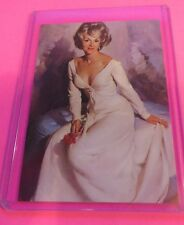 1950's GIL ELVGREN'S SEXY PIN-UP GIRL ART TRADING CARD #37 SHARON OLSON BLONDE