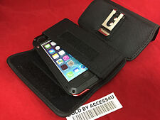 BLACK BELT CLIP POUCH FOR SAMSUNG GALAXY S3 S4 Aluminum Gorilla Glass Metal Case